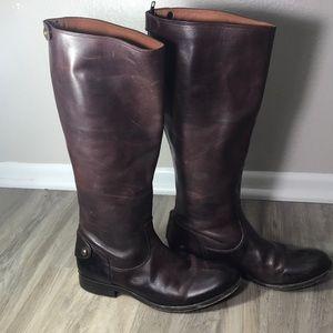 FRYE Melissa Inside Zip Tall Wide Calf Riding boot